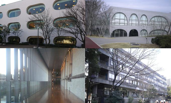 都内の図書館建築