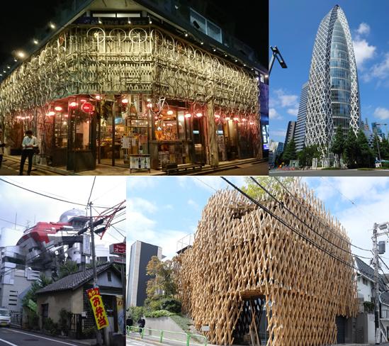 都内の不思議なデザインの建築
