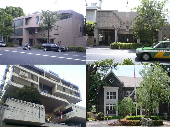 都内の大使館建築